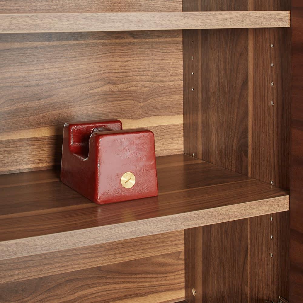 Glan Plus/グラン プラス デスクシリーズ キャビネット 幅119cm 収納物をしっかり支える頑丈な棚板です。