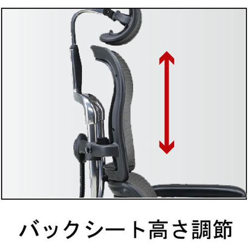 Ergohuman エルゴヒューマンベーシック EH-HAM ヘッドありタイプ 背中のシートも可動
