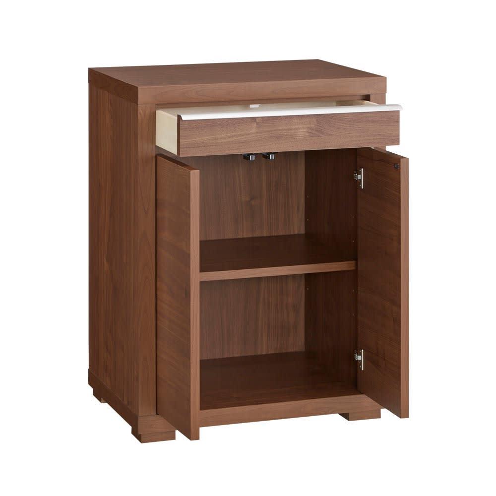 Antisala/アンティサラ パソコンデスク キャビネット 幅60.5 扉内には可動棚も付いており、本棚・書棚機能も備えています。