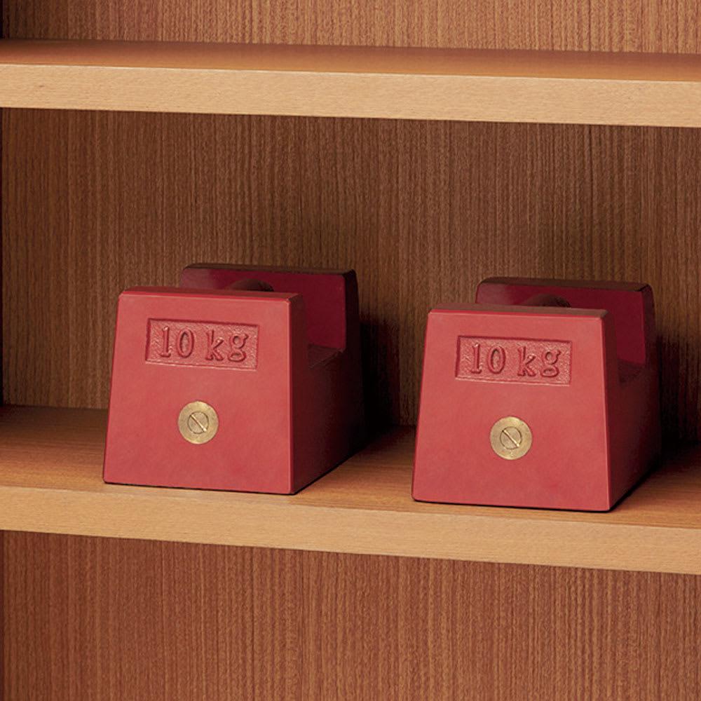 Chasse(シャッセ) ブックシェルフ 幅82奥行30高さ150.5cm 棚板は耐荷重約30kgを実現した頑丈さ。