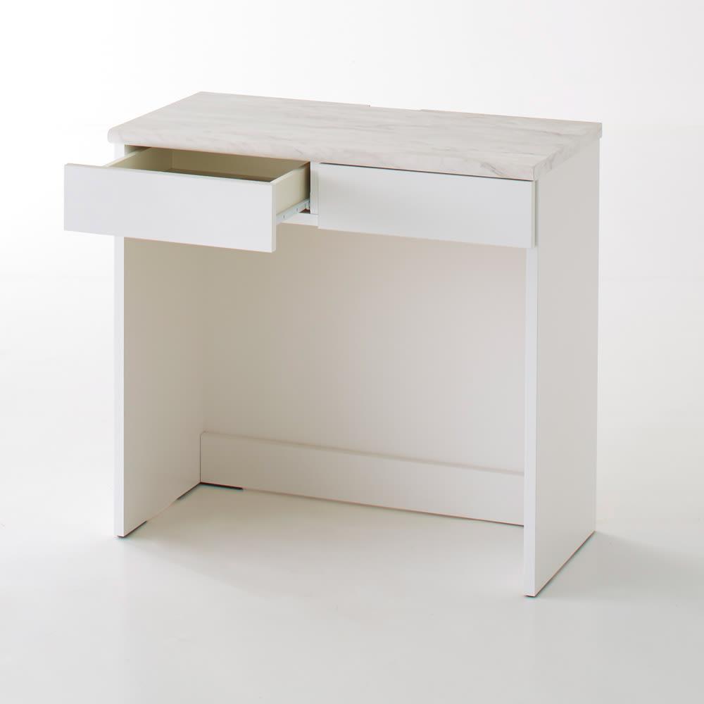 Canan/カナン 大理石調デスク デスク 幅78cm (ア)ホワイト