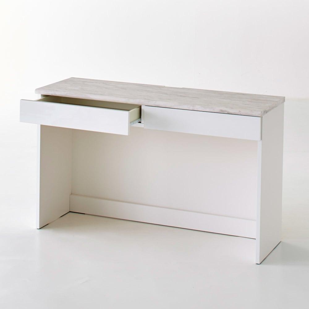 Canan/カナン 大理石調デスク デスク 幅121cm (ア)ホワイト お届けする商品です