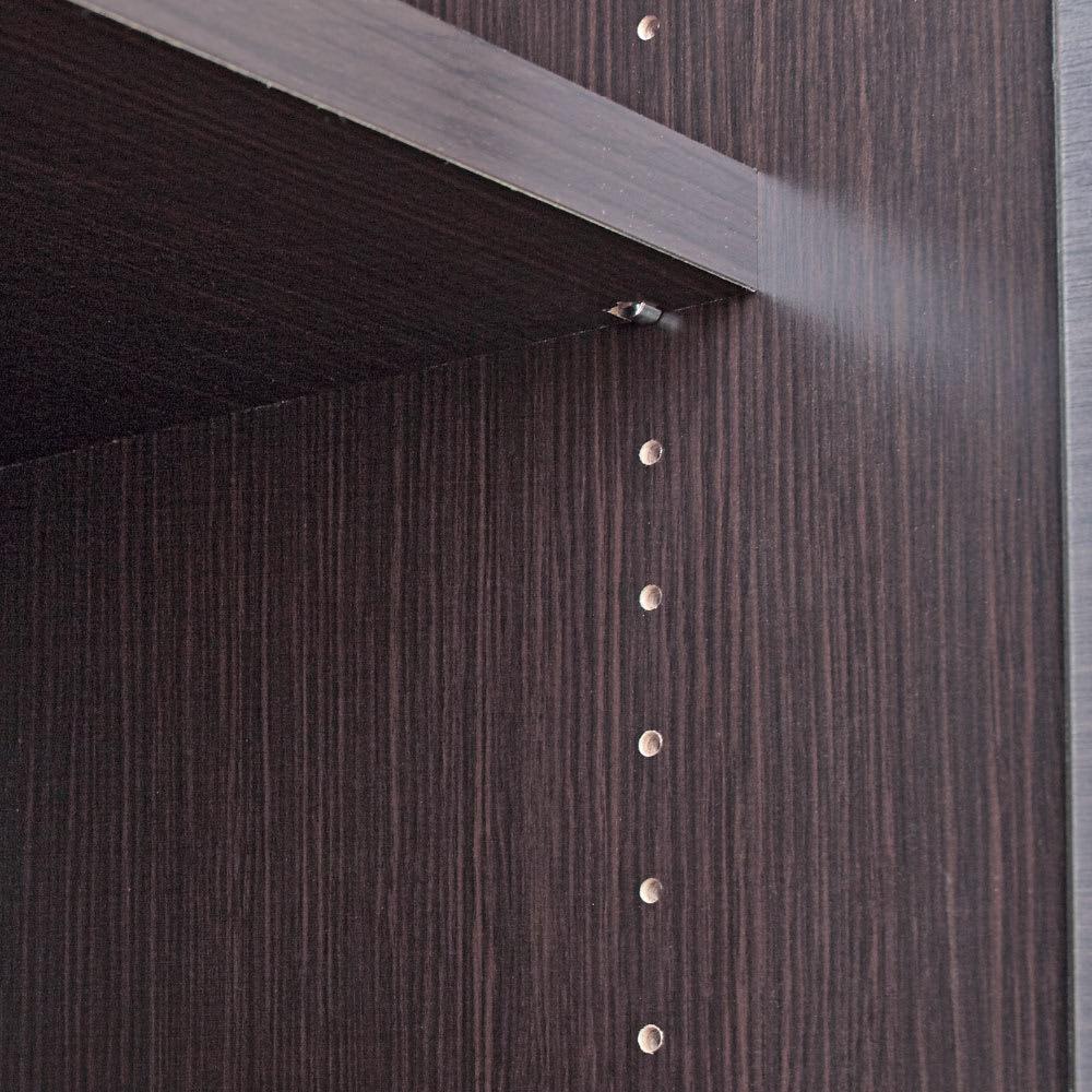 Canan/カナン 大理石調デスク 扉収納 幅78cm 可動棚は3cm間隔で高さ調節可。