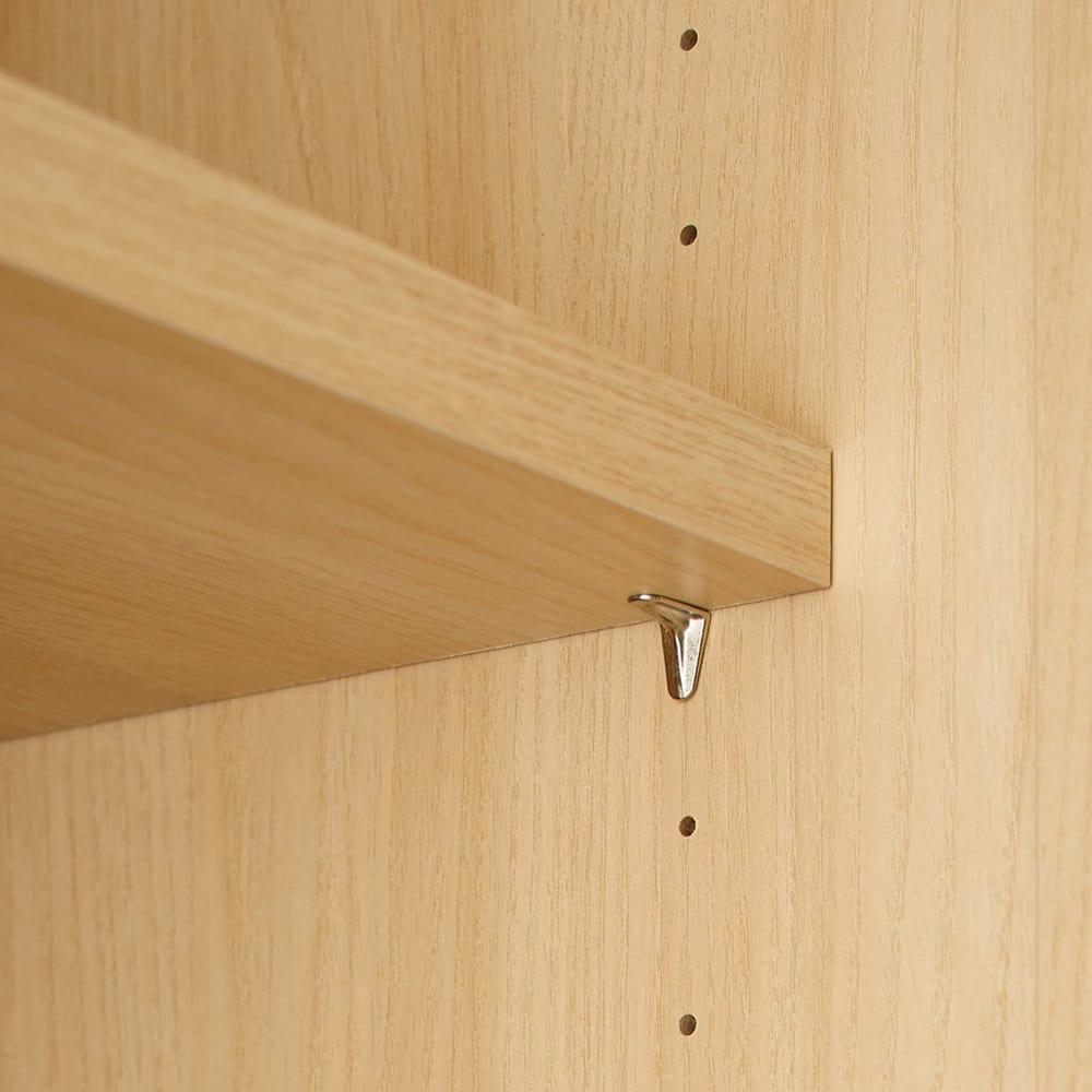 Wand/ヴァント 高さオーダー天井突っ張り本棚 奥行30cm 幅90cm 棚板は収納物に合わせて3cm刻みで調整可能。