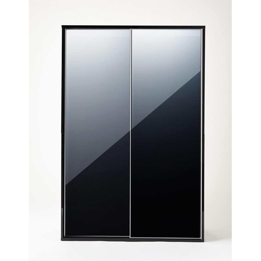 Evan(エヴァン) スライドシェルフ ハイタイプ本棚 幅120cm イ)ブラック 光沢が美しいモダンデザイン
