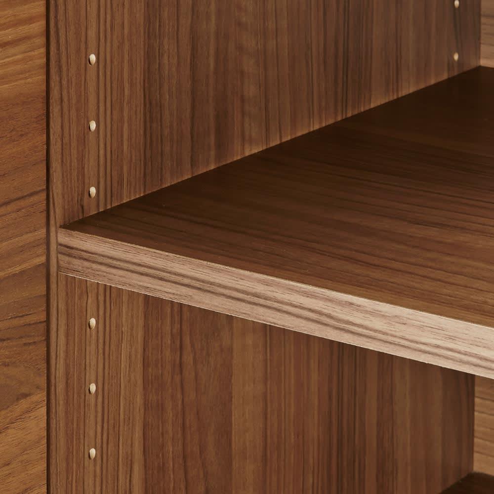 Granite/グラニト デスクシリーズ キャビネット幅119cm 棚板は3cmピッチで調整できるので、収納物に合わせて高さを変えられます。