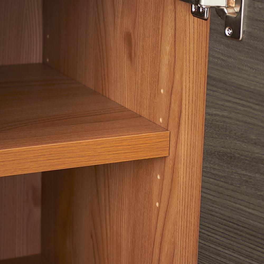 K´astani/カスターニ バイカラーコレクション本棚 高さサイズオーダー上置き 奥行45cm・幅117.5 高さ26~59cm 棚板は3cmピッチで調整できます。(高さ39cm以下は可動棚板はありません)