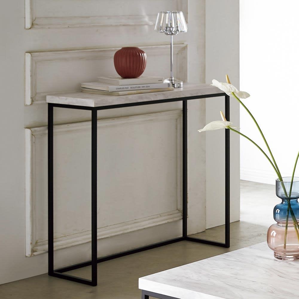 Marbrim/マーブリム 大理石調テーブルシリーズ コンソール お気に入りのオブジェなどを置いて素敵な空間づくりにも。