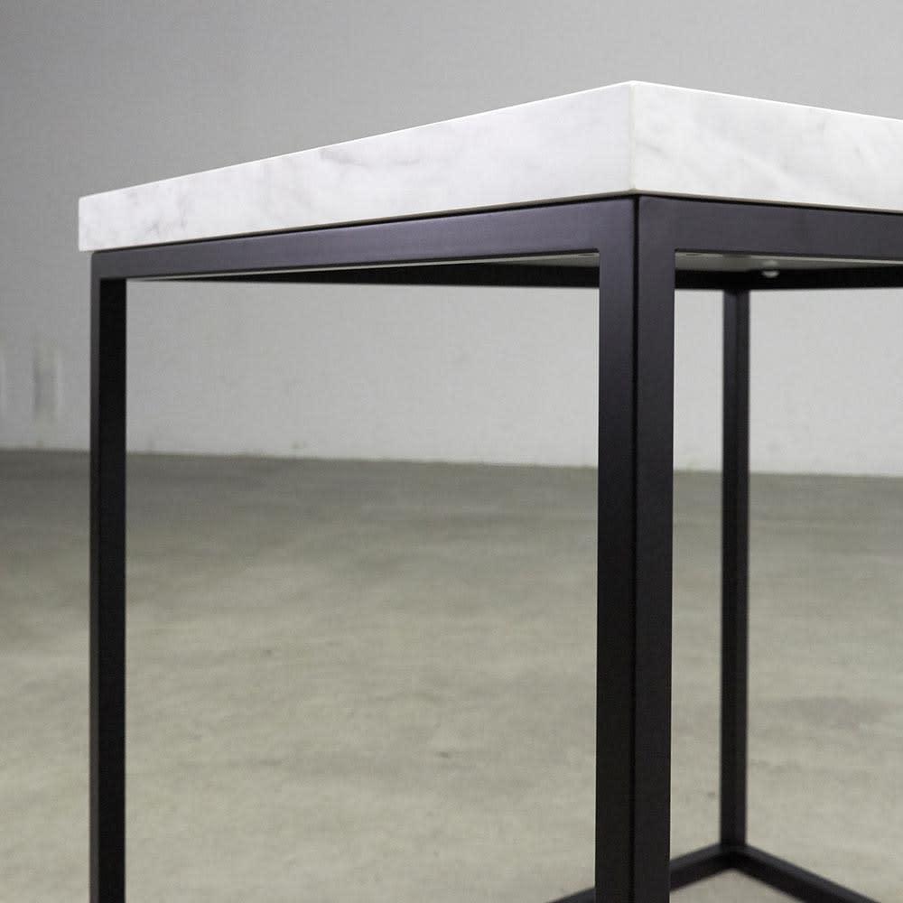 Marbrim/マーブリム 大理石調テーブルシリーズ コンソール 2つの素材のコントラストがシックな輝きを添えて。