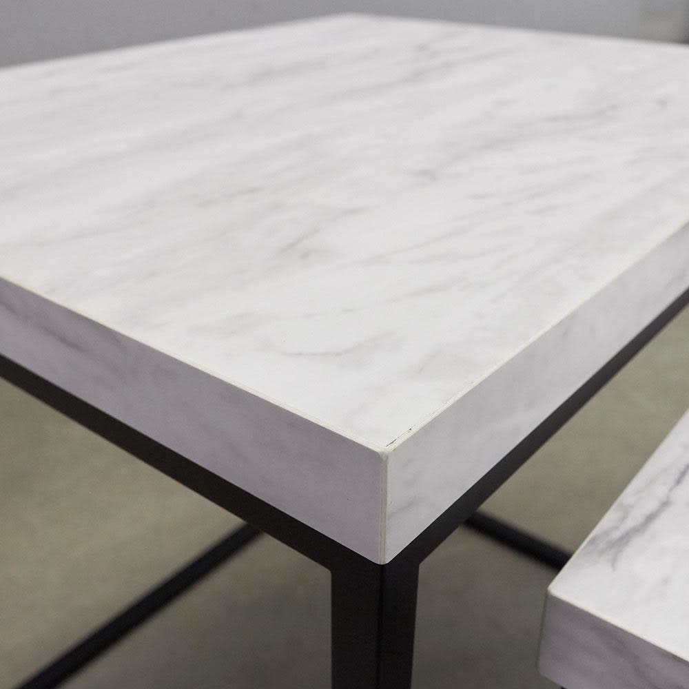 Marbrim/マーブリム 大理石調テーブルシリーズ ネストサイドテーブル 天板アップ。