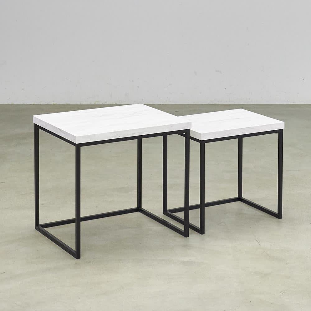 Marbrim/マーブリム 大理石調テーブルシリーズ ネストサイドテーブル ネストサイドテーブル