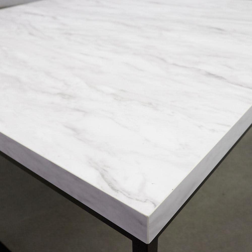 Marbrim/マーブリム 大理石調テーブルシリーズ ネストセンターテーブル 天板アップ。