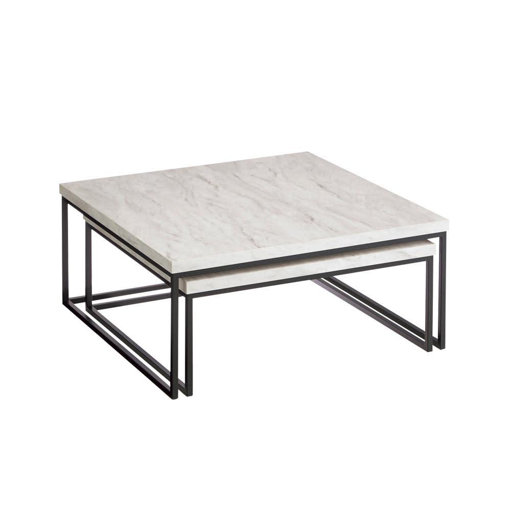 Marbrim/マーブリム 大理石調テーブルシリーズ ネストセンターテーブル ネストセンターテーブル