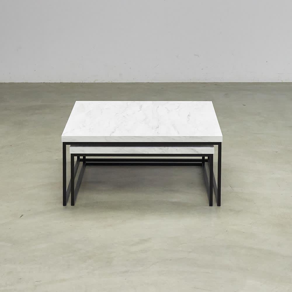 Marbrim/マーブリム 大理石調テーブルシリーズ ネストセンターテーブル 正面