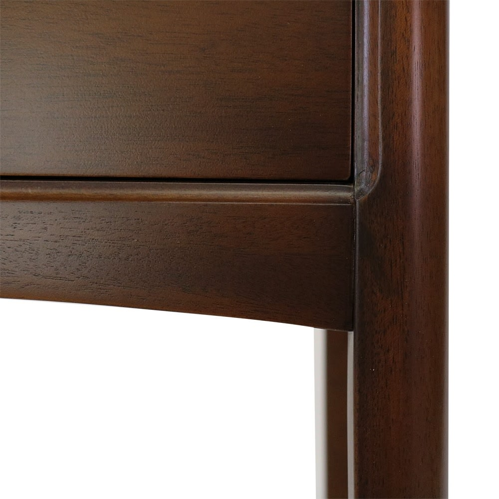 Modernew/モダニウ リビング収納シリーズ コンソールテーブル 脚部の付け根も優雅な弧を描きます。