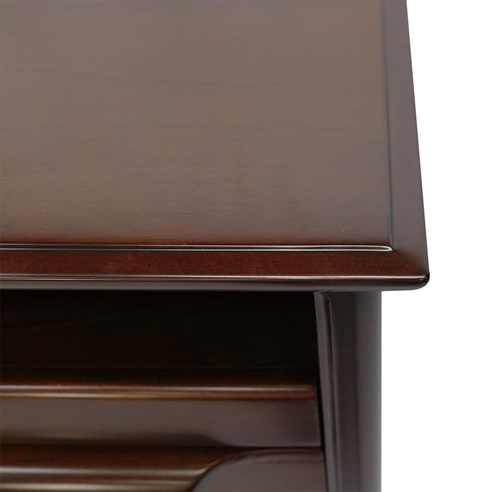 Modernew/モダニウ リビング収納シリーズ コンソールテーブル 面取りをした丁寧な角の仕上げ。