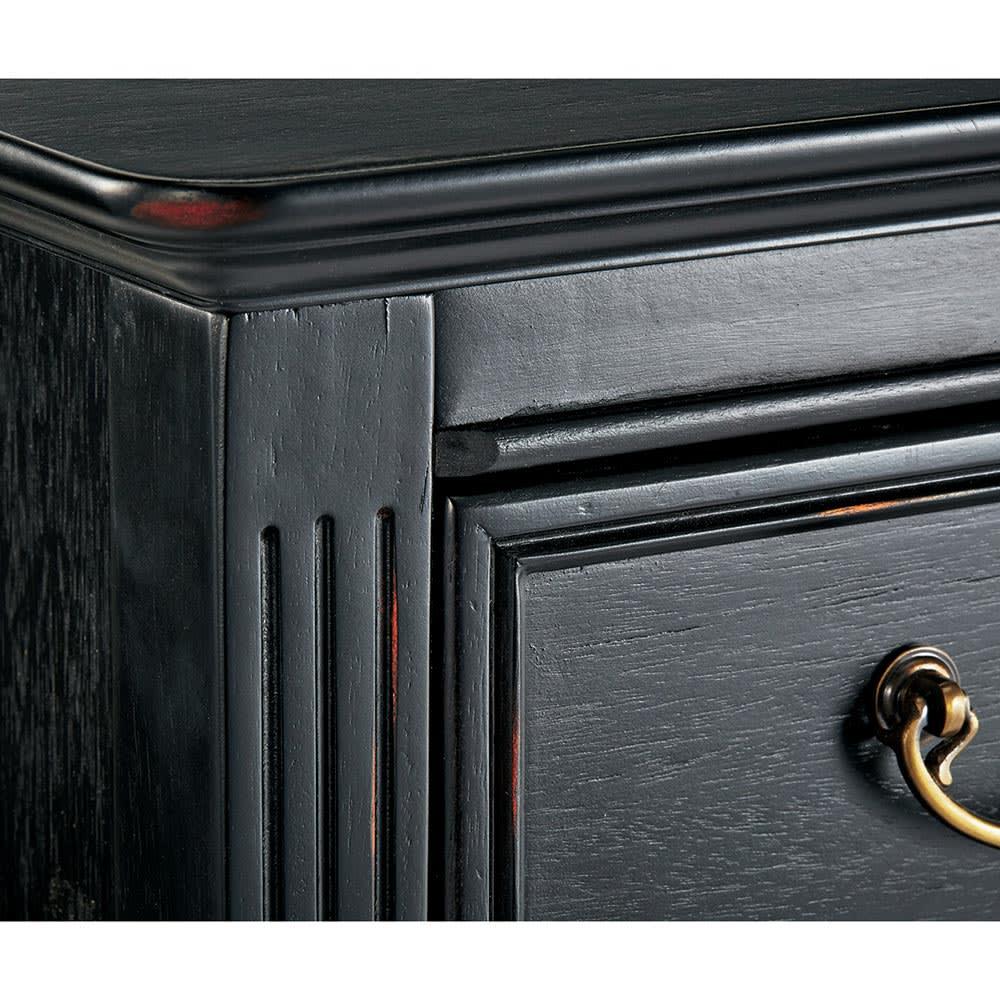Noir/ノワール アンティークシリーズ チェスト 幅45cm 長年使い込まれたようなアンティークの風合いを塗装で再現。