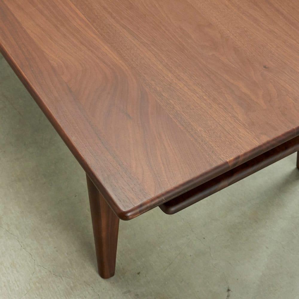 a tempo/アテンポ ウォルナット天然木 リビングテーブル・センターテーブル 幅100cm