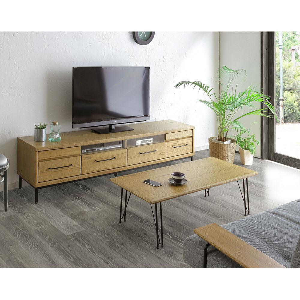 HS Brookryn/エイチエスブルックリン リビングシリーズ テレビボード 幅180cm・高さ45cm コーディネート例 ※お届けはテレビボード幅180タイプです。