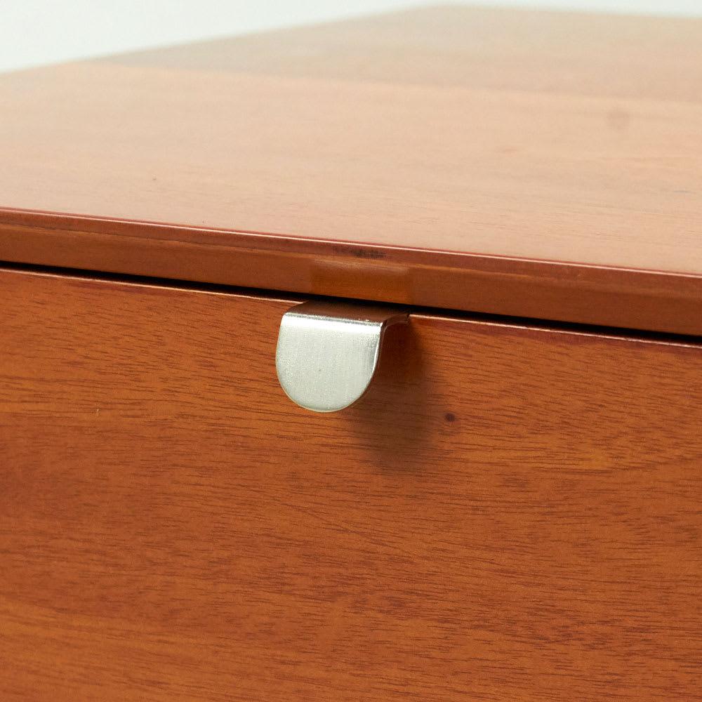 北欧ヴィンテージ風Vカットデザイン リビングテーブル・センターテーブル 幅105cm シンプルな取っ手がアクセントに。