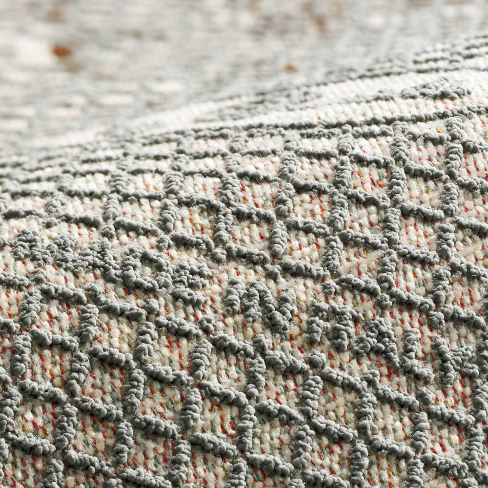 Botanico/ボタニコ イタリア製ジャガード織ラグ/マット 円形 約径175cm 裏面は滑りにくい加工。
