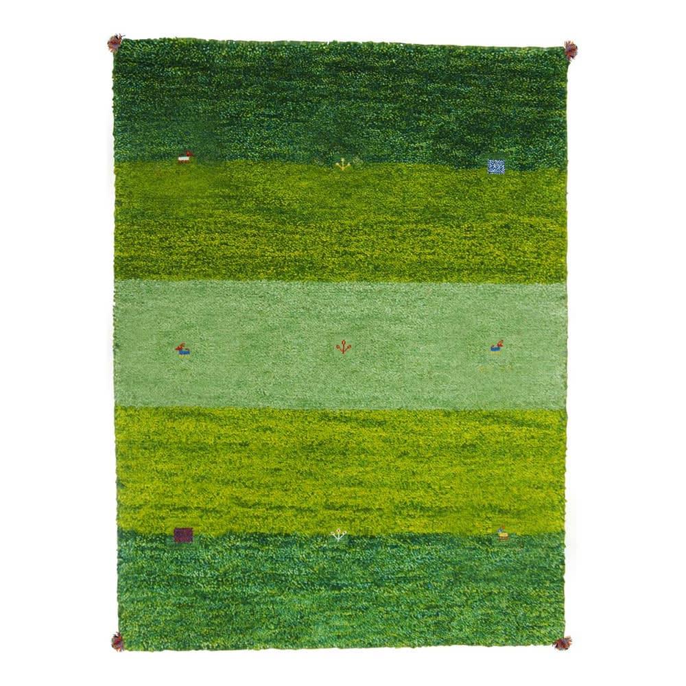 Gabbeh/ギャベ インド製 ウールラグ グリーングラデ ※写真は約200×250cmです。