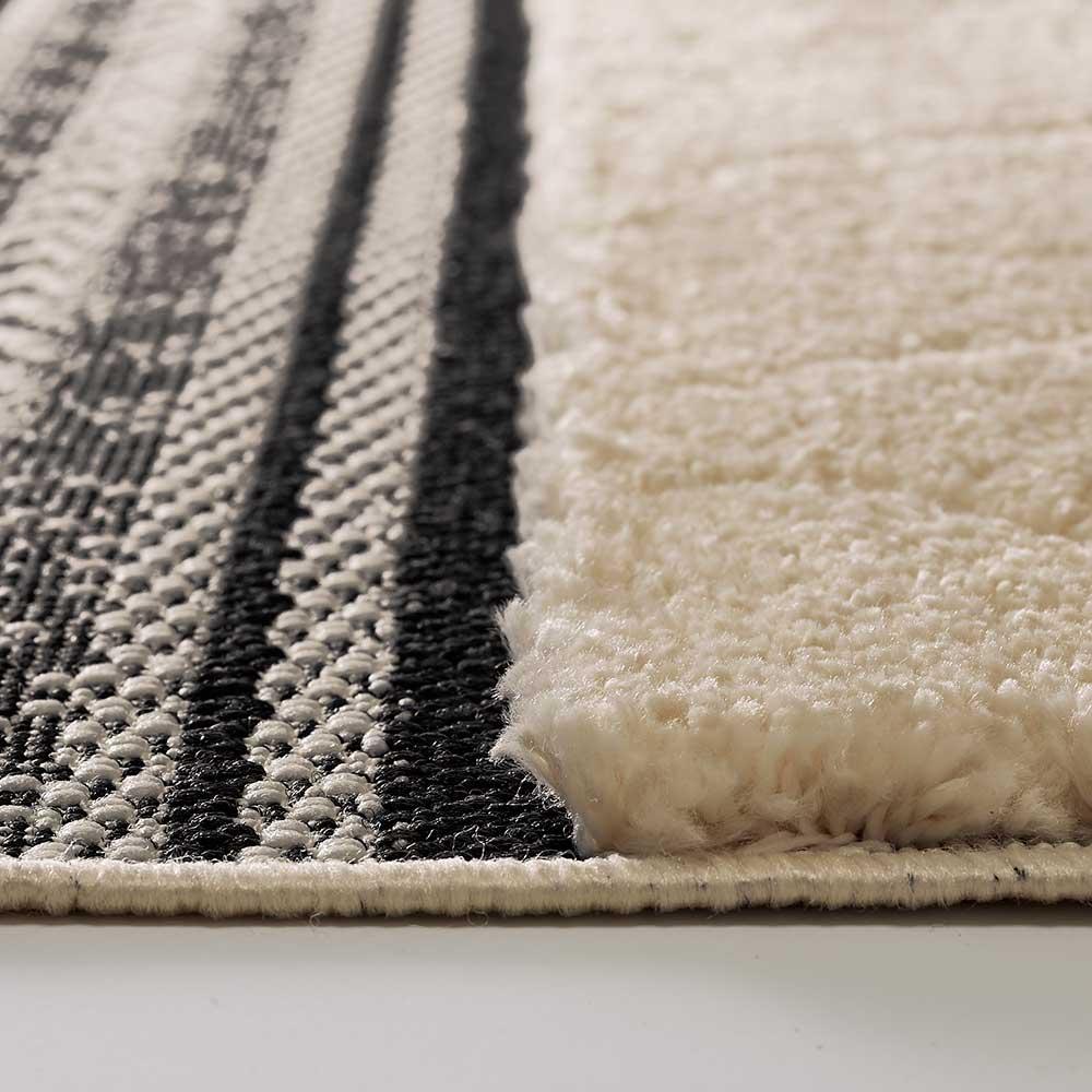 Fraru/フラル シャギーラグ 平織りの部分と、約22mmの毛足部分の高低差によって模様が織られています。