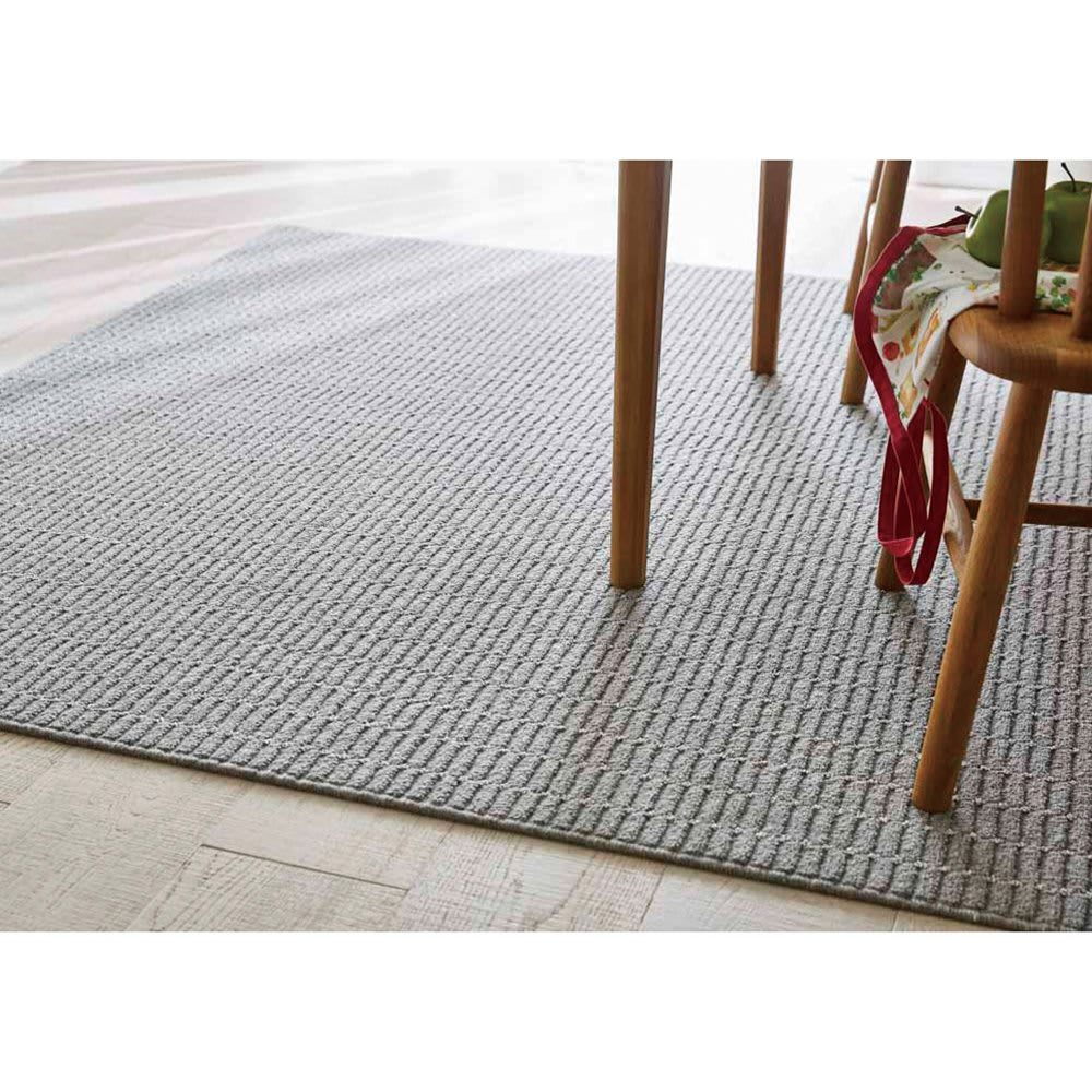Nuage/ヌアージュ ウールラグ (イ)グレー ※写真はカーペット3畳タイプです。