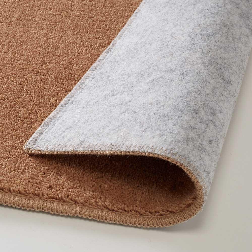 ウール100%ツイストラグ 裏面不織布(滑りにくい加工)
