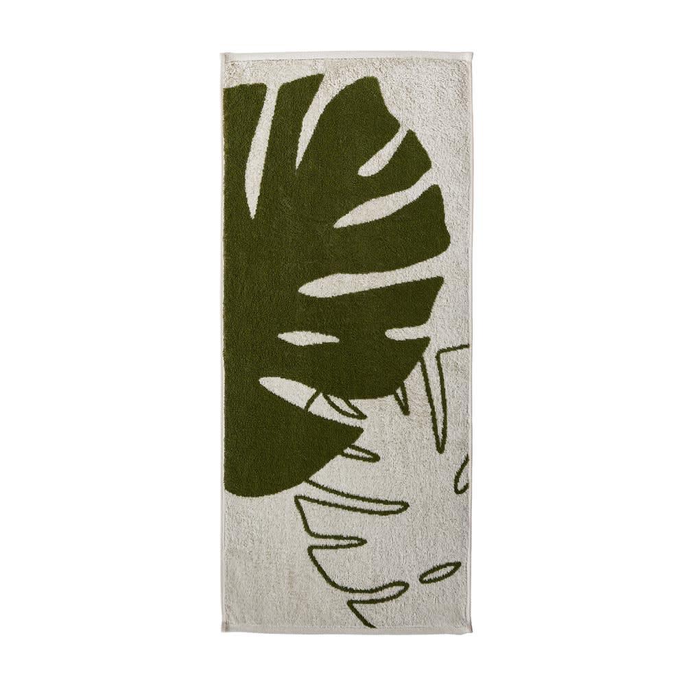 Monstera/モンステラ シリーズ トイレタリー 小物2点セット ハンドタオル・ペーパーホルダーカバー ハンドタオル 表面