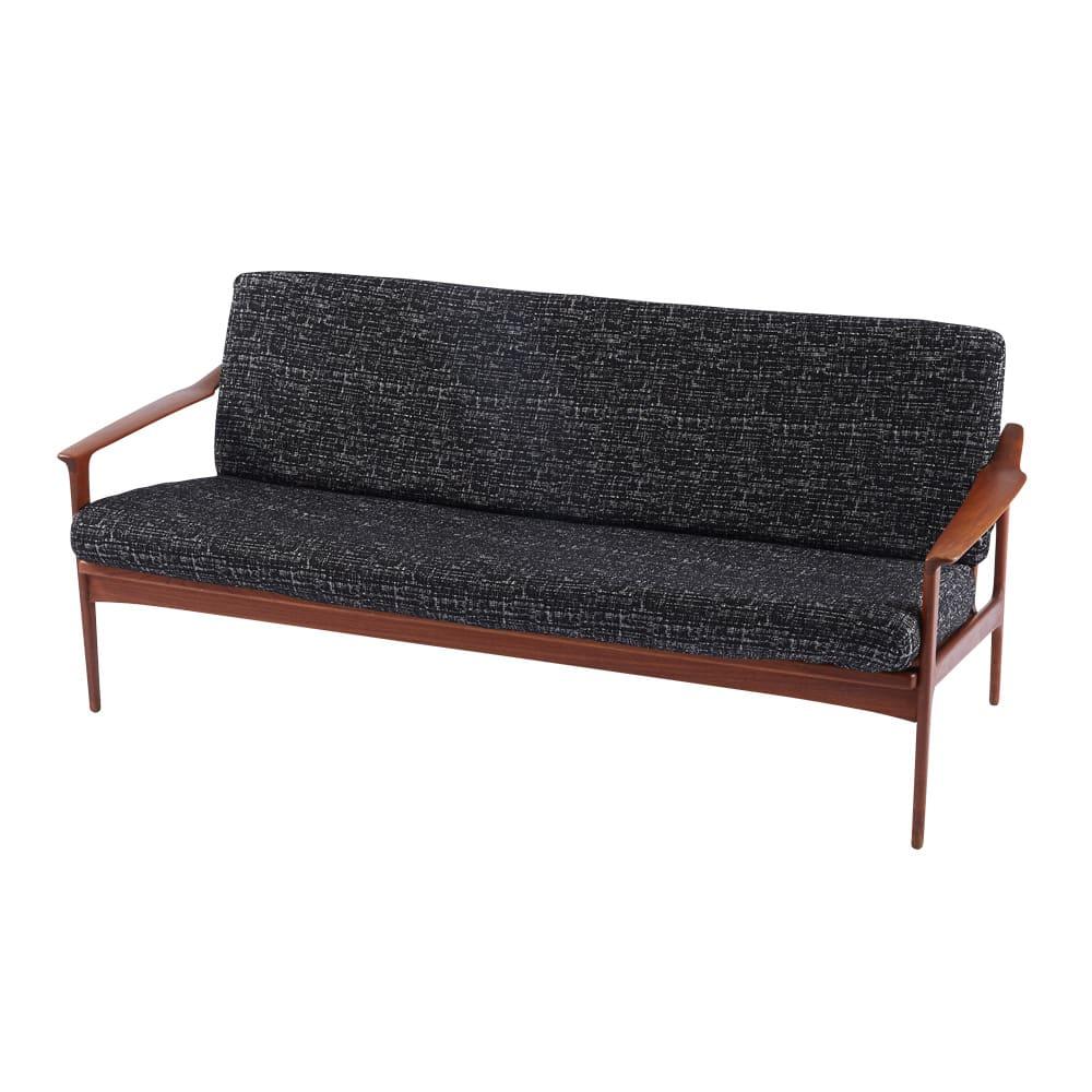スペイン製フィットカバーAndrea/アンドレア ソファカバー アーム付き 色見本(ア)ブラック系 ※写真は座面・背もたれ兼用カバーです。