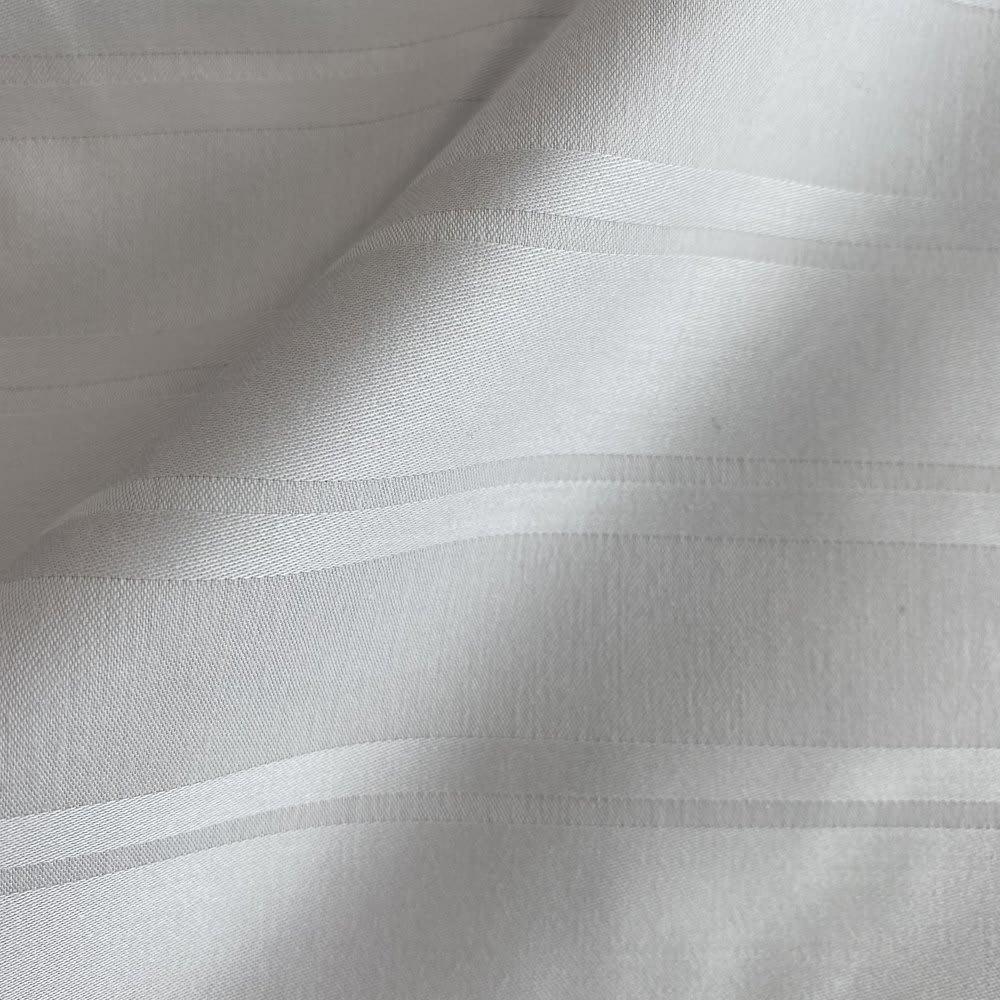 Sateen/サティーン ストライプ 超長綿カバーリング 掛け布団カバー 〈素材アップ〉ライトグレー