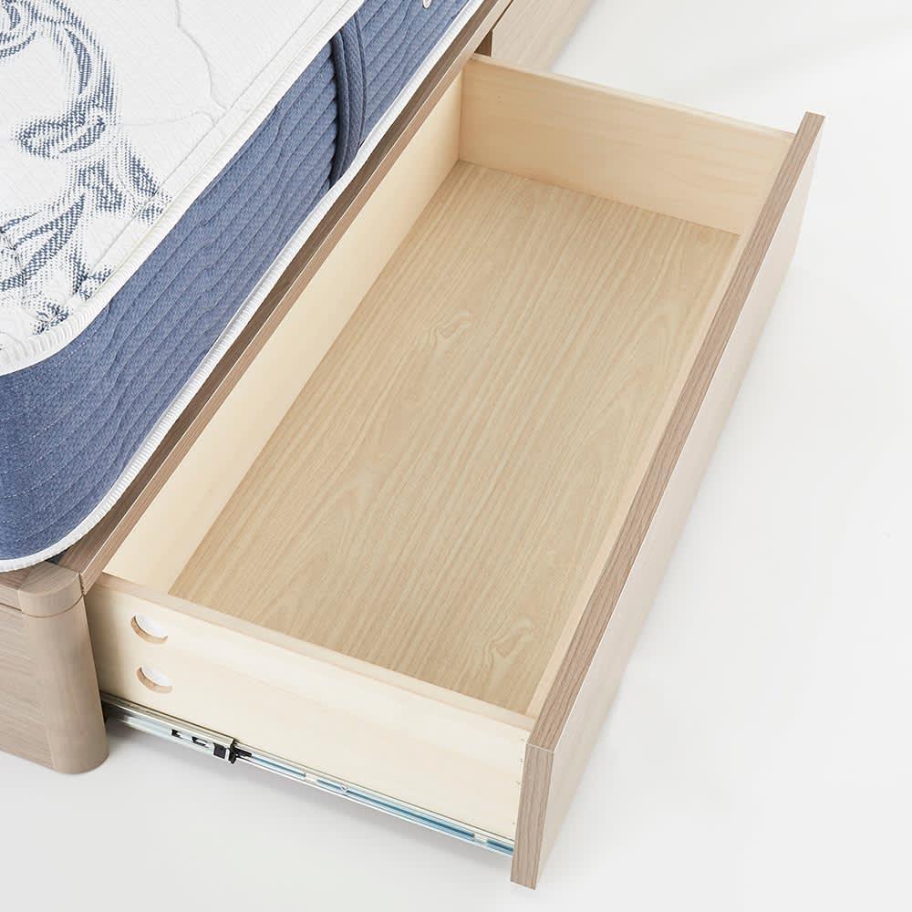【配送料金込み 組立・設置サービス付き】シェルフスリム 引き出し付きベッド 6.5インチピロートップ