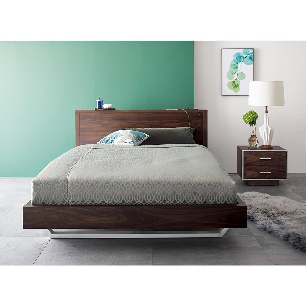 GlanPlus/グランプラス ベッド ベッドフレームのみ コーディネート例
