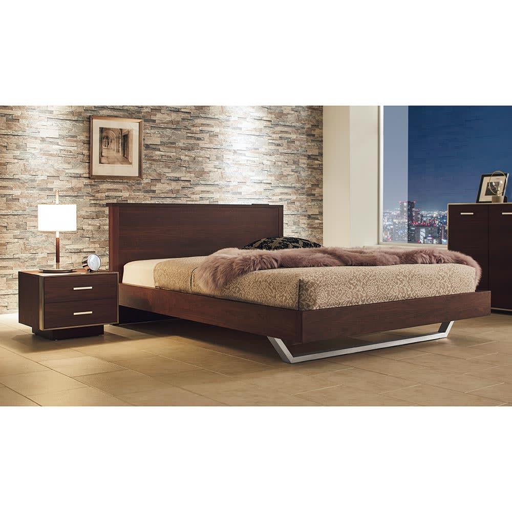 GlanPlus/グランプラス ベッド ベッドフレームのみ コーディネート例 ※写真はダブルサイズです。