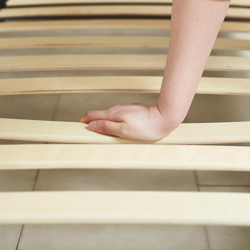 GlanPlus/グランプラス ベッド ベッドフレームのみ 床板すのこがほどよくしなるウッドスプリング仕様。体とマットレスをしっかり支えます。