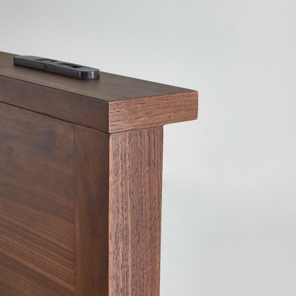 国産ユーロトップポケットコイルマットレス GlanPlus/グランプラス ベッド ヘッドボードに2口コンセント+USB充電付き