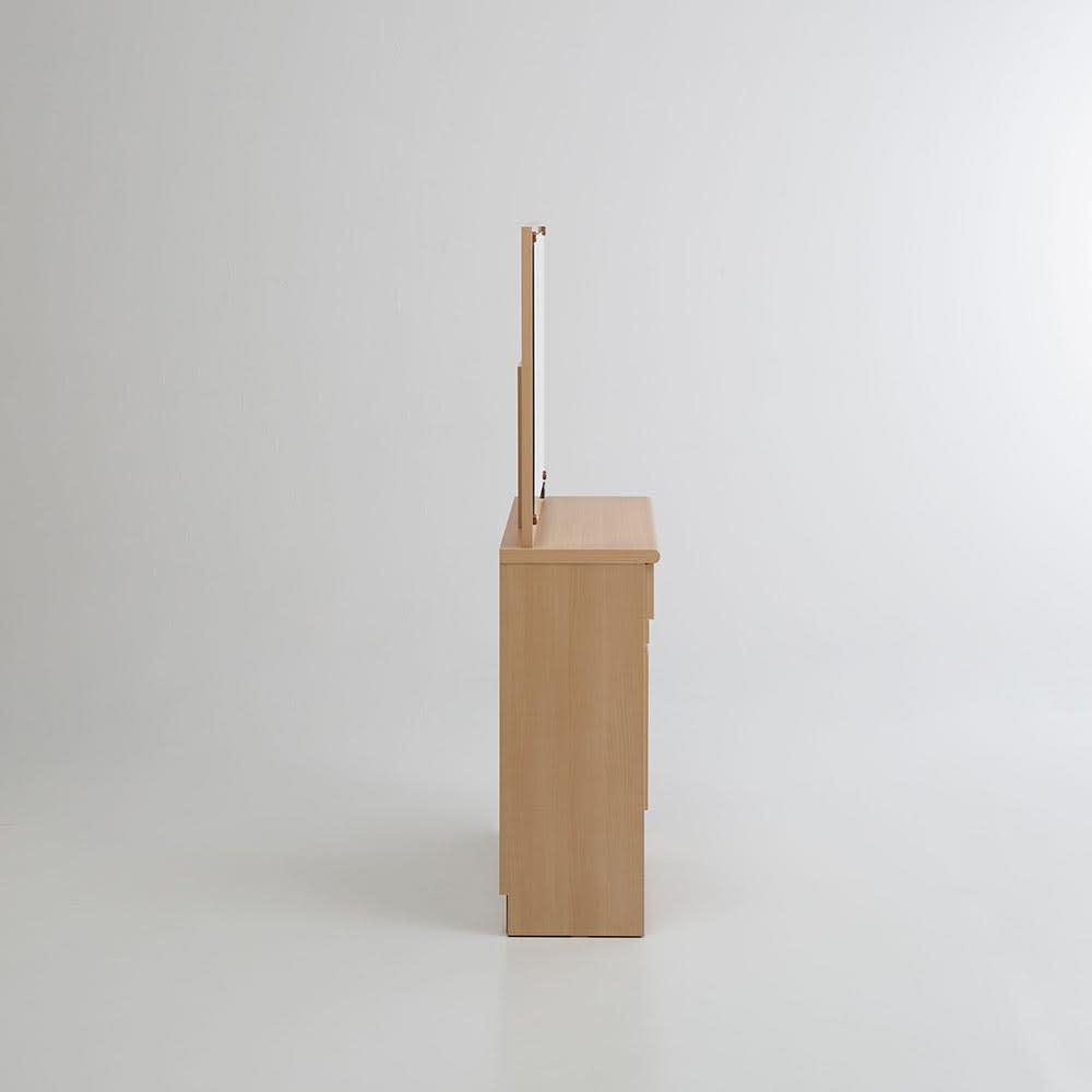 Milath/ミラス 薄型ワイドドレッサー 幅87.5cm 奥行30cm高さ132cm 真横の様子