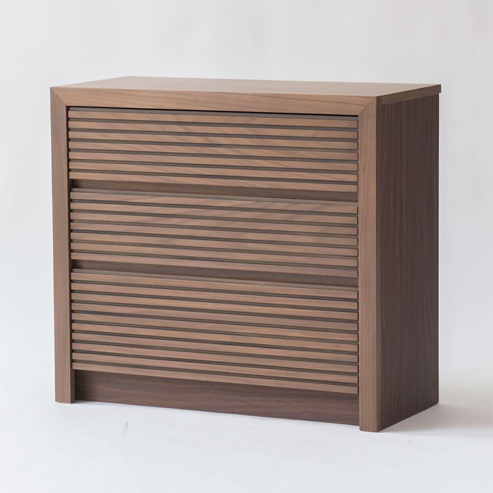 Maisema/マイセマ ウォルナット格子チェスト 幅80cm・3段(高さ72.4cm) お届けの商品はこちらです。