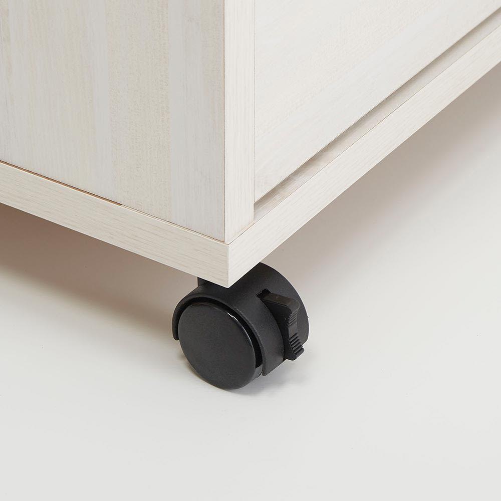 Mieli/ミエリ キャスター付きチェスト 幅90cm・3段(高さ75.5cm) キャスターは2輪のみストッパー付きです。