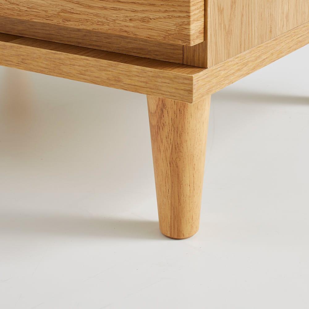 北欧ジュエリー収納付チェスト ロータイプ 幅80cm・4段(高さ89cm) ゴム天然木を使用した細身の脚部が北欧風デザインのポイントに。