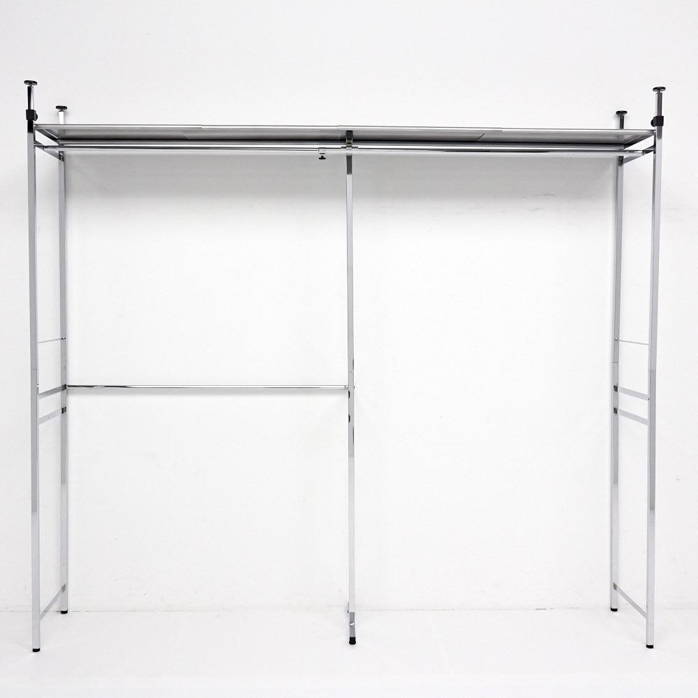Shinevarie(シャインバリエ) クローゼットハンガーラック 幅150cm~250cm対応 最大幅(幅250cm)