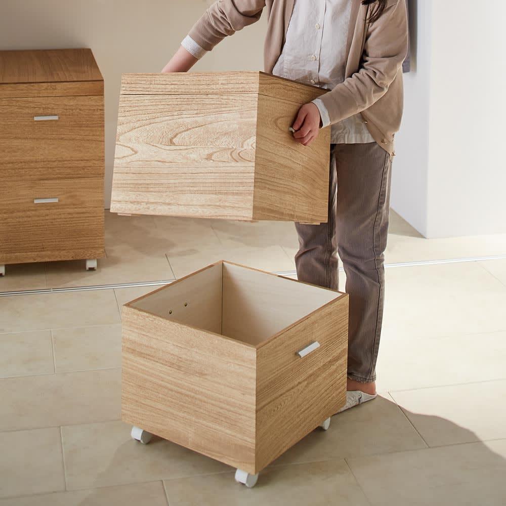 Apilar/アピラ 桐製収納ボックス 奥行73.5cm 2段 2段タイプだから、収納力がさらに充実。(※写真は2段奥行45cmタイプ)