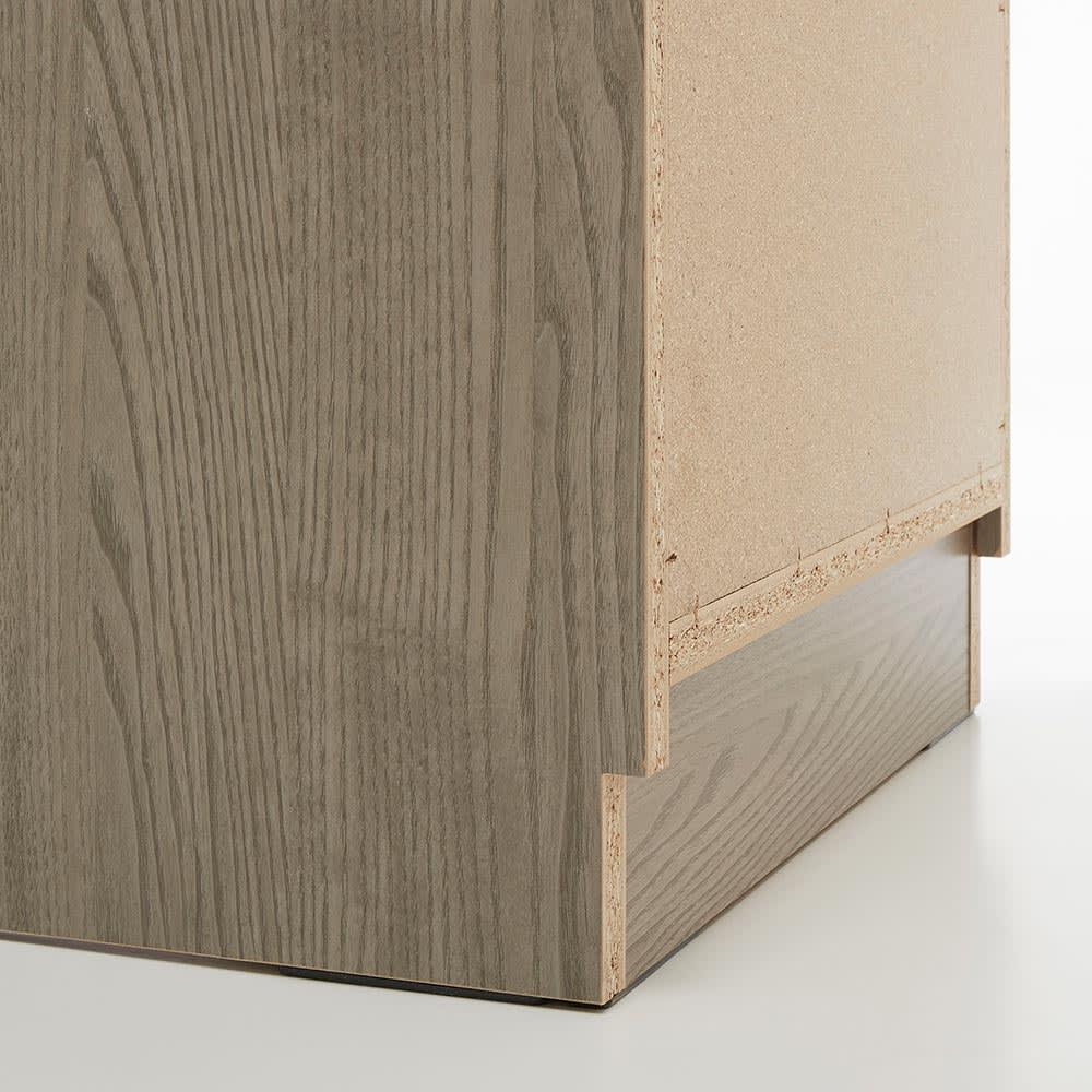 Vises/ヴィセス オープンワードローブ 幅80cm ハンガー&引き出し 巾木よけカット(高さ7.5奥行1.5cm)