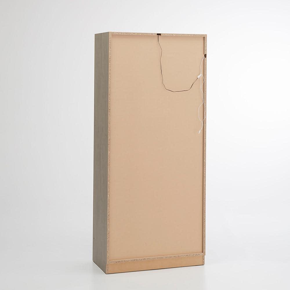 Vises/ヴィセス オープンワードローブ 幅80cm ハンガー&引き出し 背面