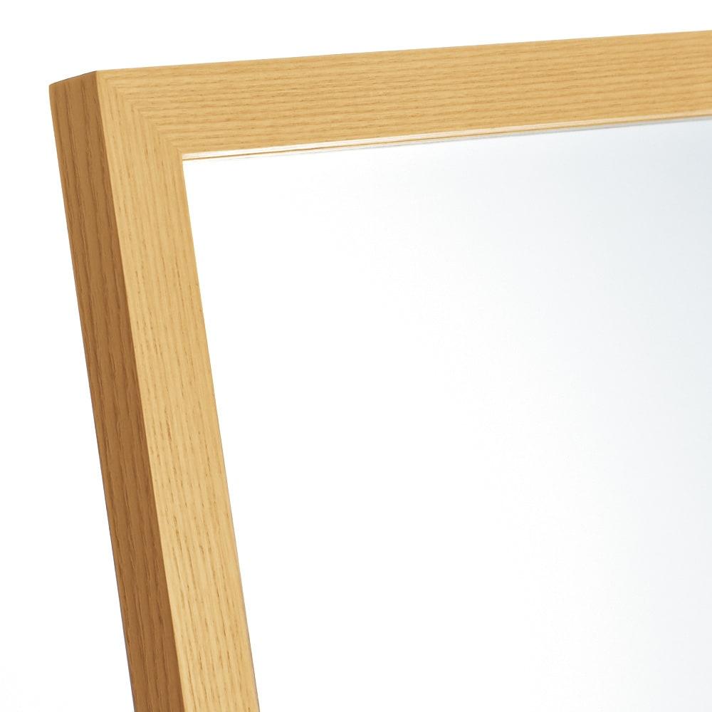 Incery(インサリー) 天然木製 スリムミラー 幅32cm ナチュラル ミラーフレームは天然木を使用し上品にすっきり仕上げました。
