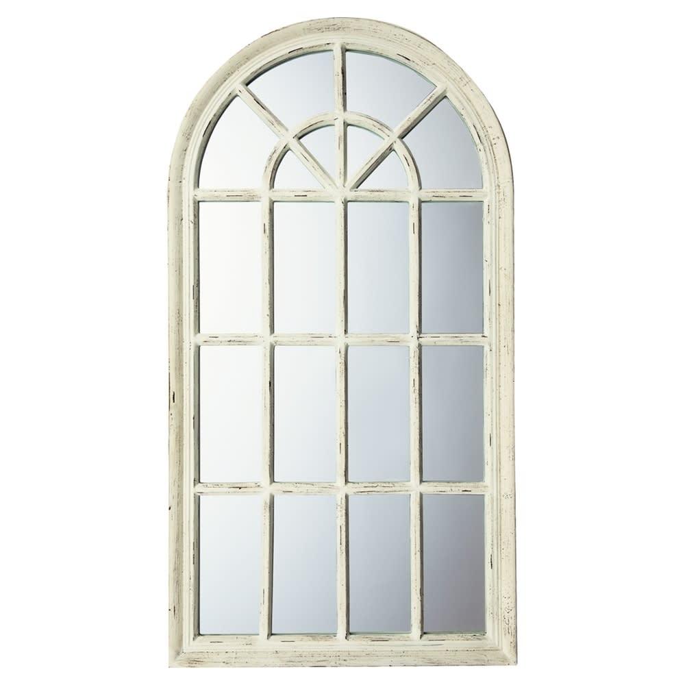 Window Style/ウィンドウスタイル ホワイト 壁掛けミラー・ウォールミラー(ホワイト/ゴールド) (ア)ホワイト