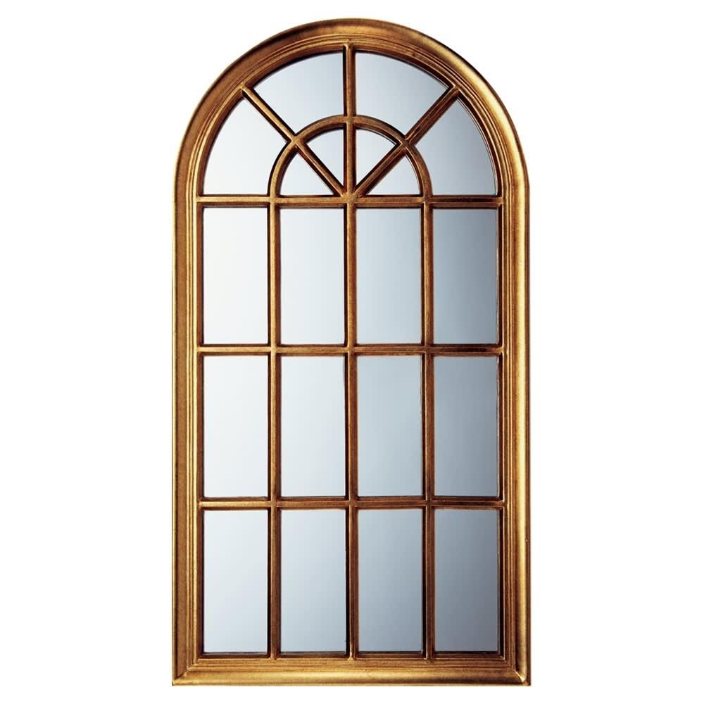 Window Style/ウィンドウスタイル ホワイト 壁掛けミラー・ウォールミラー(ホワイト/ゴールド) (イ)ゴールド
