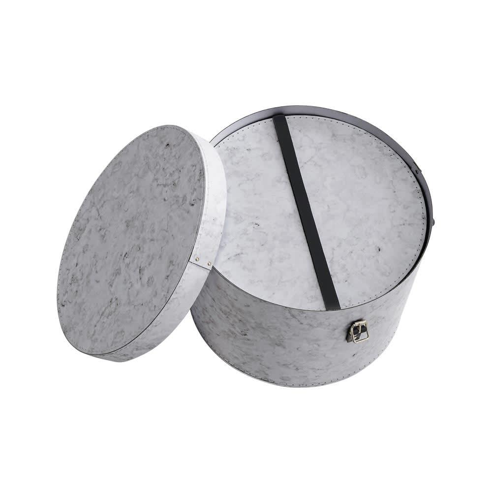 帽子収納ボックス大理石柄 2個セット[BIGSOBOX/ビグソーボックス]スウェーデン生まれの収納ボックス 使用しない際は入れ子式に収納してコンパクトにまとまります。