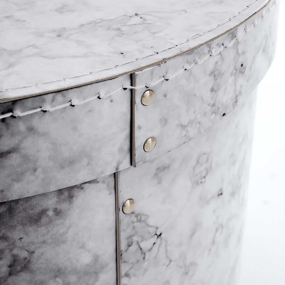 帽子収納ボックス大理石柄 2個セット[BIGSOBOX/ビグソーボックス]スウェーデン生まれの収納ボックス 無機質にならずインテリアに溶け込む大理石柄でリッチなお部屋に。